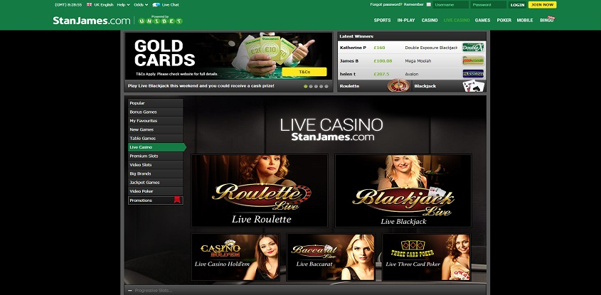 Stan James Online Casino