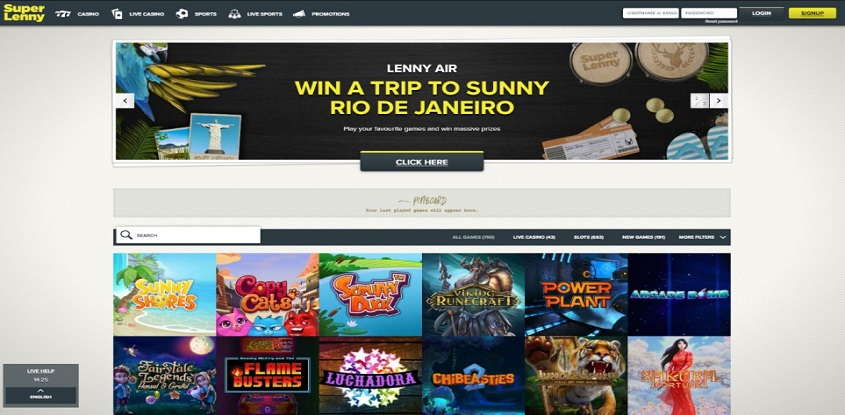 SuperLenny Online Casino
