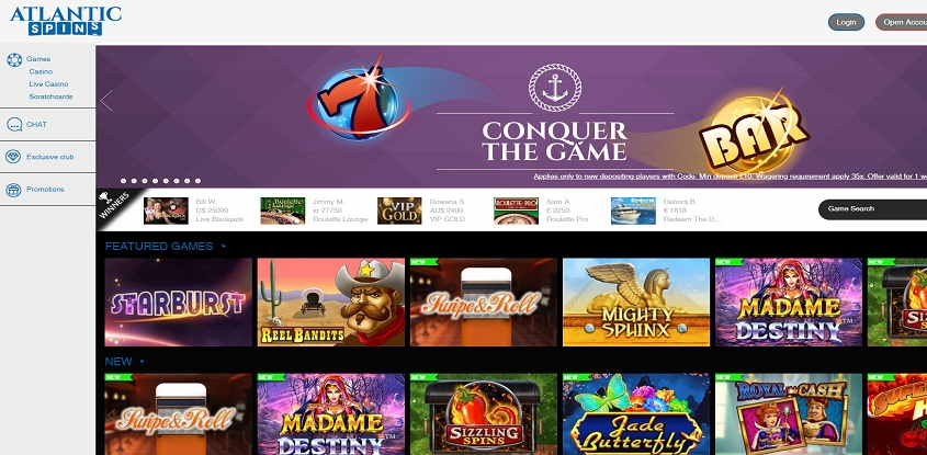 Atlantic Spins Online Casino