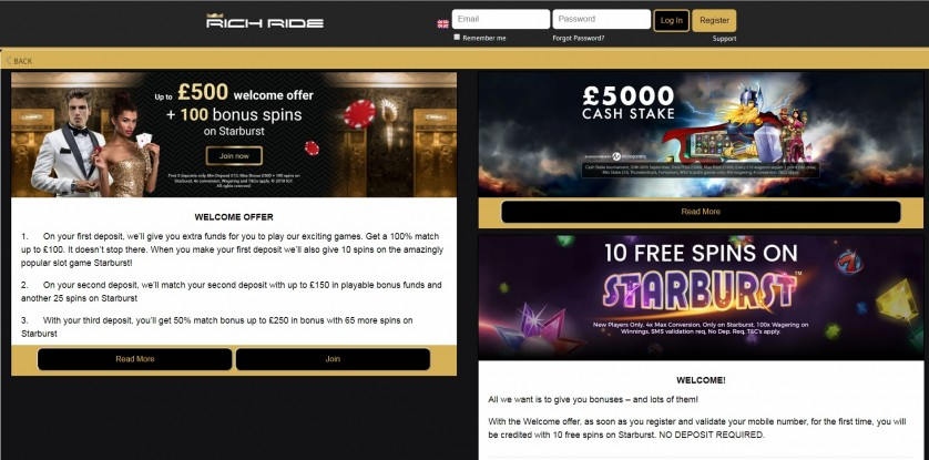 Rich Ride Online Casino