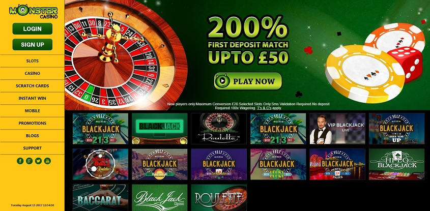 Monster online casino