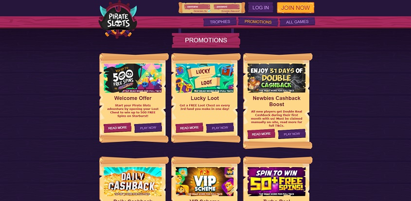 Pirate Slots Online Casino