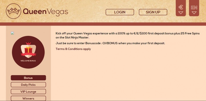 Queenvegas Online Casino
