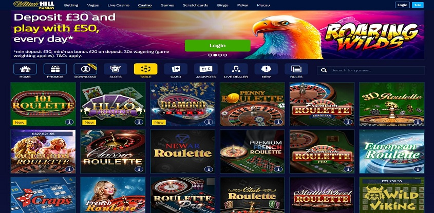 WilliamHill Casino online