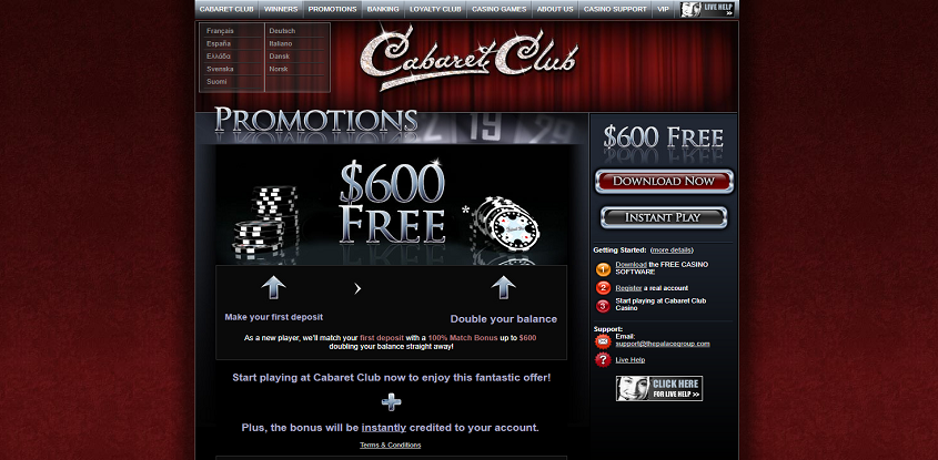 Cabaret Club Online Casino