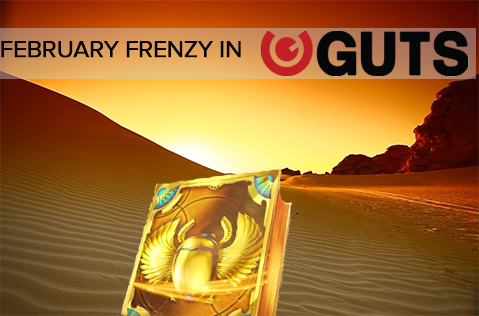 February Frenzy: Win a Slice of the $50K at Guts Casino