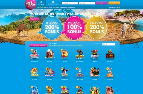 Win Great Prizes at Vera John Casino