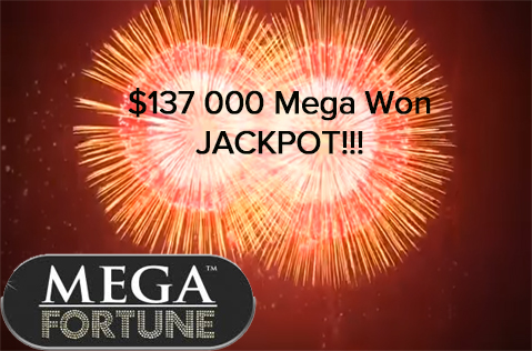 $137,400 Mega Fortune Dreams Jackpot Won